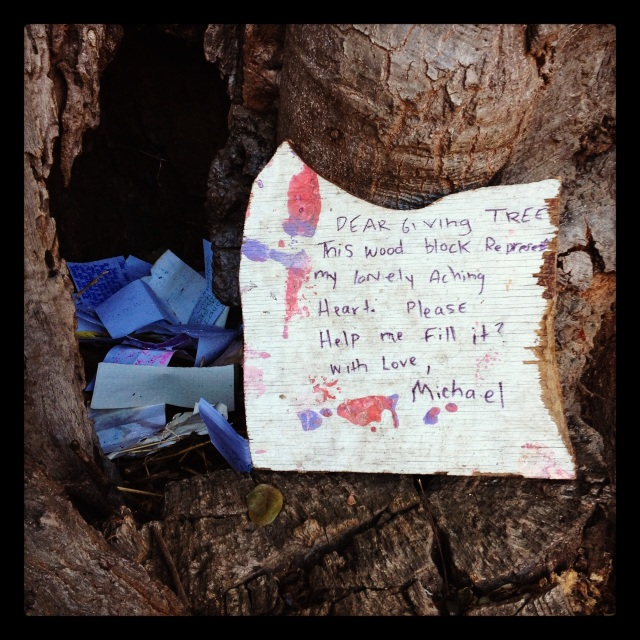 griffith park note . happy new year . photo by stacy elaine dacheux