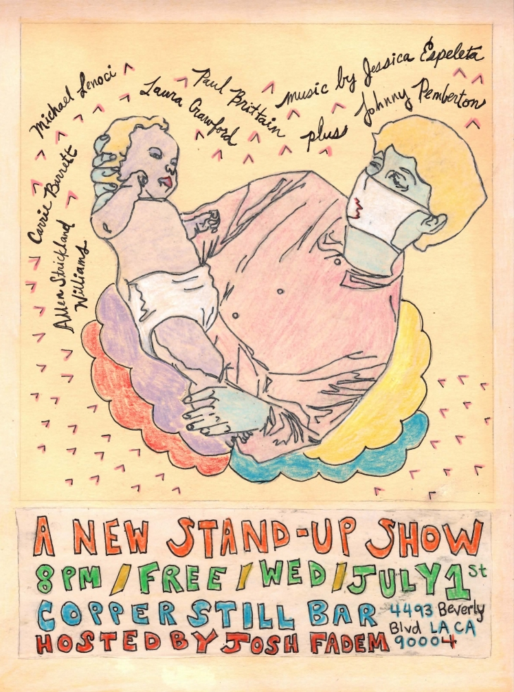 a new stand-up show . poster art by stacy elaine dacheux . 2015