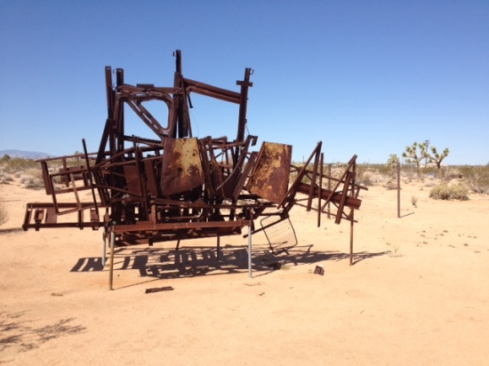 Noah Purifoy Outdoor Desert Art Museum . Exhibit Photo by Stacy Elaine Dacheux . 2013